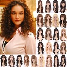 UK Long Wavy Curly Full Head Wig Cosplay Costume Party Fancy Dress Sexy Lady B13