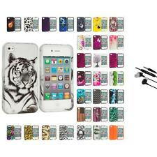 For Apple iPhone 4 4S Hard Design Case Cover Accessory Earphone Mic
