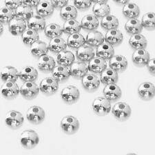 500pcs Round Silver 4mm/6mm Spacer Beads for Fashion Women DIY Jewelry Finishing