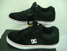 """New Mens 12 DC""""Tribe""""Black Red Trim Suede Skate Shoes $70"""