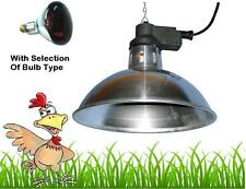 Large Traditional Infra Red Heat Lamp plus bulb Poultry Hatching Egg Brooder