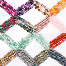 """1String 15"""" Strands Nature Stone Round Gemstone Loose Spacer Beads 4/6/8/10/12mm"""