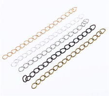 50pcs Black/Silver/Gold/White Extension Chains Tail Extender Chains DIY 0.3*4cm