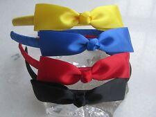 Childs Girls satin ribbon bow Headband Hair Band bow AN13