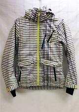 Descente DNA Womens Dot Insulated Snow Ski Winter Jacket Grey White Print NEW