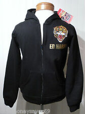 NWT Ed Hardy Tiger Youth Boys Full-Zip Hoodie L 12 Black MSRP$84