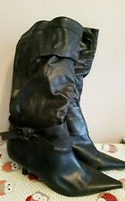 Evans leather knee high boots size 9 EEE