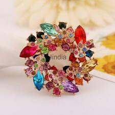 Fashion Redbud Crystal Brooch Pin