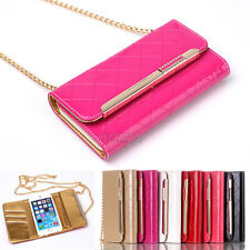 Glossy Enamel Diamond Leather Purse Bag Wallet Case Cover For iPhone 6 6S Plus