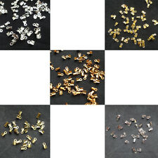 250x Cord End Crimp Beads Silver Gold Bronze Black Copper Color Lead Free 6H9