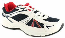New Mens/Gents Ascot White Leather Look & Mesh Running Shoes/Trainers UK SIZES