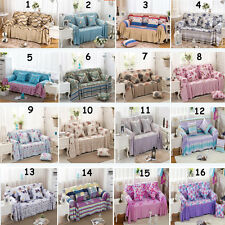 New Printing Fabric Floral Lounge Couch Sofa Slipcover 1,2,3,4 Seater Washable