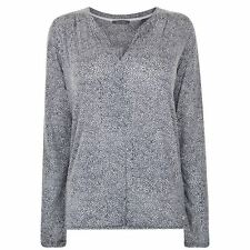 MARC O POLO Womens Graphic Jersey Top Dotted V Neck Long Sleeve