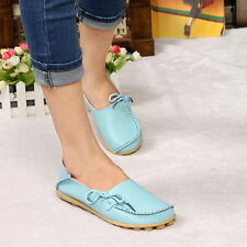 Womens Comfort Casual Walking Bowed Flat Shoes Loafers Moccasin Large Size