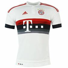 Adidas FC Bayern Munich Away Jersey 2015 2016 Mens White/Red Football Soccer