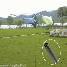 50M Outdoor 4 ARM Rotary Airer Clothes Washing Line Dryer Folding Garden Laundry