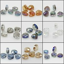 12X13mm Faceted Glass Crystal Loose Spacer Teardrop Charm Beads 5pcs