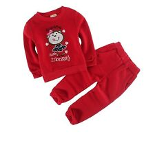 Baby Clothing Boy's 2piece Suit Red - Sport Tracksuits Hoody Jackets Pants