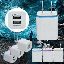 For iPhone For Samsung AC USB Wall Charger Universa Home Travel Power Adapter