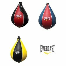 Everlast Original Leather Boxing Speed Bag Reflex Punching Training MMA Gym New