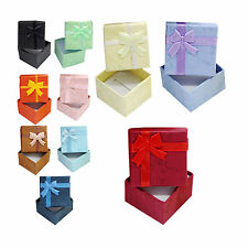 Hot Sell Lots 5 Pcs Jewellery Jewelry Gift Box Case For Ring Square Colorful QQ