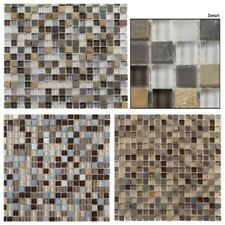 Tile Glass & Slate Collection Backsplash Shower Mosaic Stone Glass Glazzio Tile