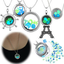 HOT Magic Steampunk Glow in the dark Floating Charm Living Locket Long Necklaces