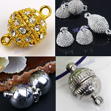 5X Round/Oval Magnetic Crystal Smooth Bracelet Necklace Clasp Finding Charm Bead