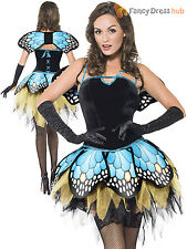 Ladies Fever Butterfly Costume Adults Animal Fancy Dress Insect Sexy Hen Party