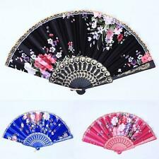 Chinese Folding Silk Pocket Flower Hand Fan Beach Wedding Dance Party Fan Favors