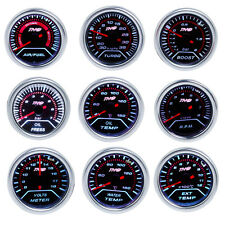 US 52mm LED AUTO CAR Boost/Water/Oil Temp/Pressure/Tachometer/Volt/AFR/EGT Gauge