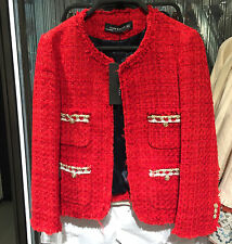 ZARA TWEED JACKET RED XS-XL Ref.  2772/785