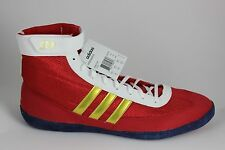 Men's Adidas Combat Speed.4.b Wrestling Shoes Red/Gold/White B34744 Brand New!!!
