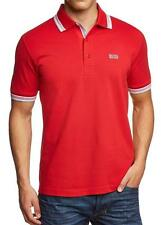 NWT HUGO BOSS MENS  SPORT POLO SHIRT GREEN TAG  T-SHIRT  RED