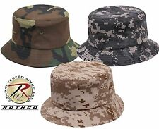 Camouflage Bucket Hat - Adults Outdoor Camo Fishing Cap Rothco 55501