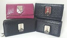 Guess Rosalind Claret Red or Black Med Wallet, Zip Around Clutch, Tech Wristlet