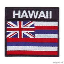 HAWAII BADGE FLAG EMBROIDERED PATCH