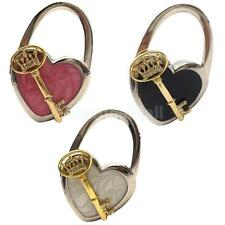 Stunning Folding Handbag Purse Hanger Desk Heart-shaped Hook Holder Key Decor