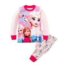 Girl Toddler & Kids Frozen Cute Pajamas 2 Pieces Set - Light Pink Long Sleeves