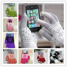 Magic Touch Screen Gloves Smartphone Texting Stretch One Size Winter Knit 1PC