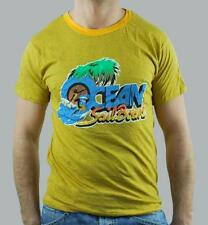 MEETING MAN T-SHIRT YELLOW MUSTARD SIZE S SPORT STOCK LOW PRICE COOL CHIC SALE