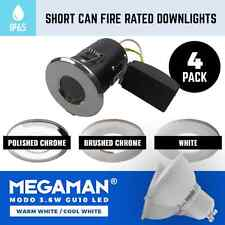 4 X BATHROOM SMALL IP65 FIRE RATED DOWNLIGHTS RECESSED SHALLOW VOID GU10 240V