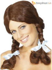 Ladies Dorothy Wig Adult Wizard of Oz Fancy Dress Accessory Womens Country Girl