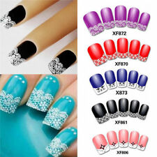 Popular 3D Transfer Lace Nail Art Stickers Manicure Nail Polish Decals Tips Hot