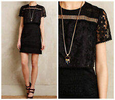 Anthropologie Eventide Embroidered Organza Dress $330 Sz 0 - by Anna Sui - NWT