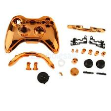 Replacement Case Shell Buttons Kit for Xbox360 Wireless Game Controller Golden