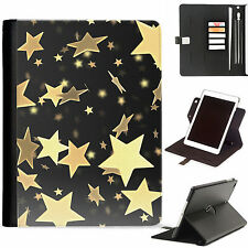 Stars Luxury Apple ipad 360 swivel i pad leather case cover with card slots