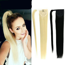 Silk New Remy Human Hair Ponytails Clip In Ponytails 100% Human Hair Ponytail