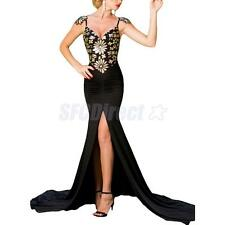 Sequined Backless High Slit Maxi Mermaid Dress Prom Dress Cami Dress for Women
