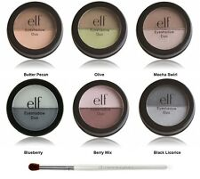 e.l.f. Duo Eye Shadow Powder PICK YOUR COLOR w/Blending Eye Brush ELF NEW